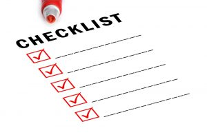 image of checklist with checkboxes checked