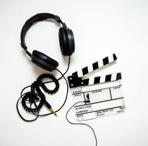 video recording equipment on a white background