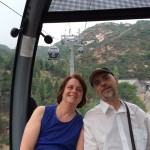 On the gondola up Badaling Mountain