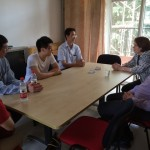 Meeting with a Chinese high school student and his father