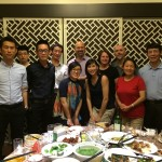 Dinner with 4 of our UMPI alums in Xi'an