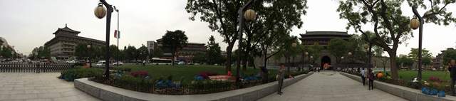 Panoramic view of the Xi'an City Wall