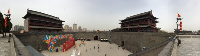 Panoramic view from on top of the city wall