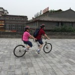 Dr. Lu and Huidu Lu on their tandem bike