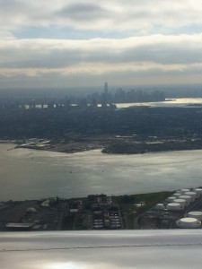 The view as we left Newark
